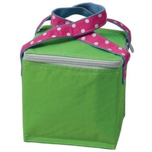 🍭3/$25 🍭 Snack square lunch tote lime and pink